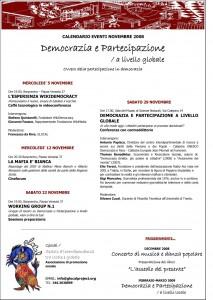 glocal calendario eventi novembre 2008