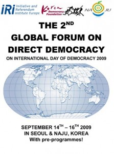 Microsoft Word - Global Forum on Direct Democracy 2009