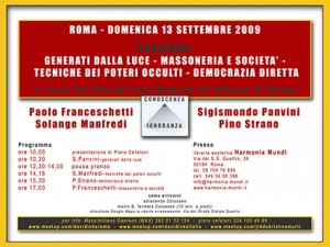 convegno Roma 13 Settembre 2009