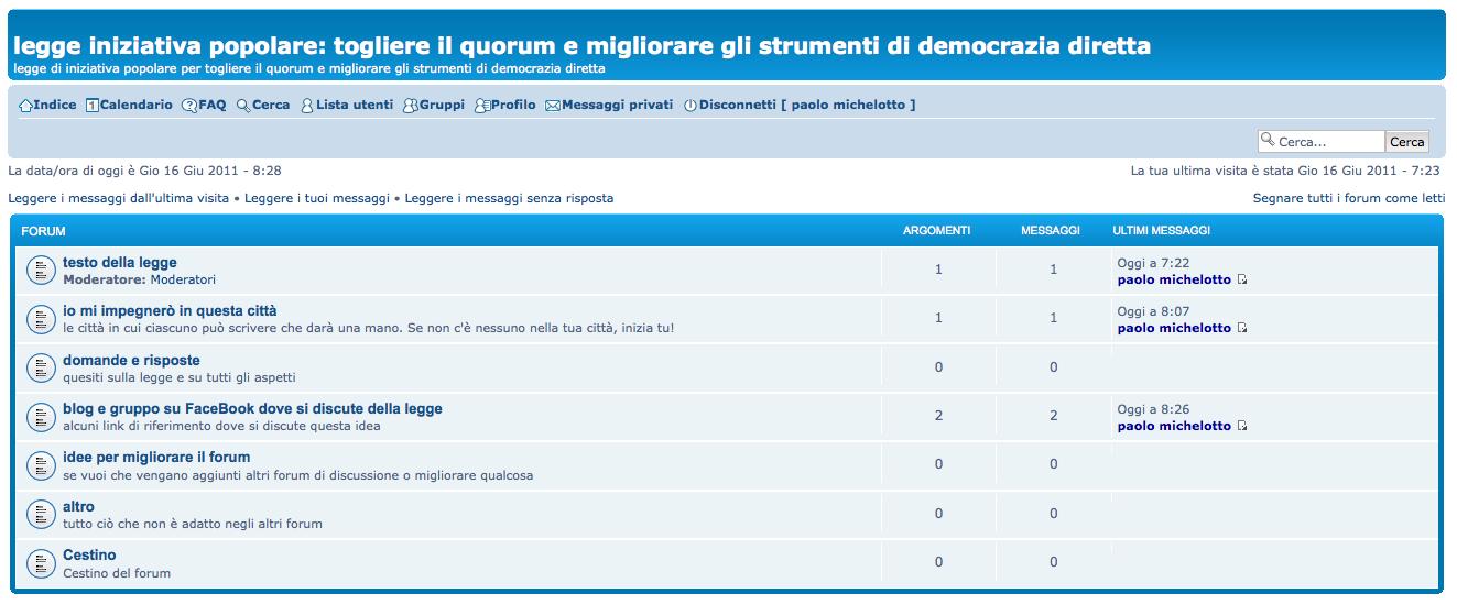 forum legge