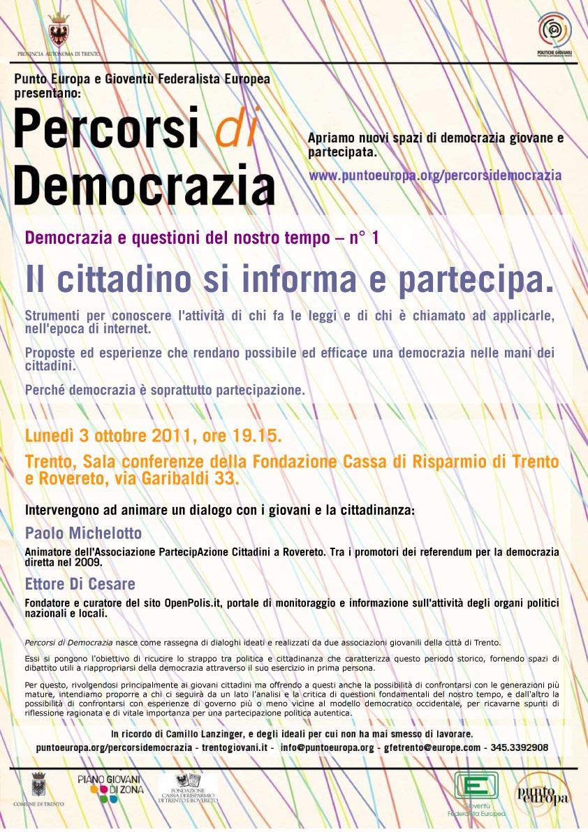 percorsi di democrazia