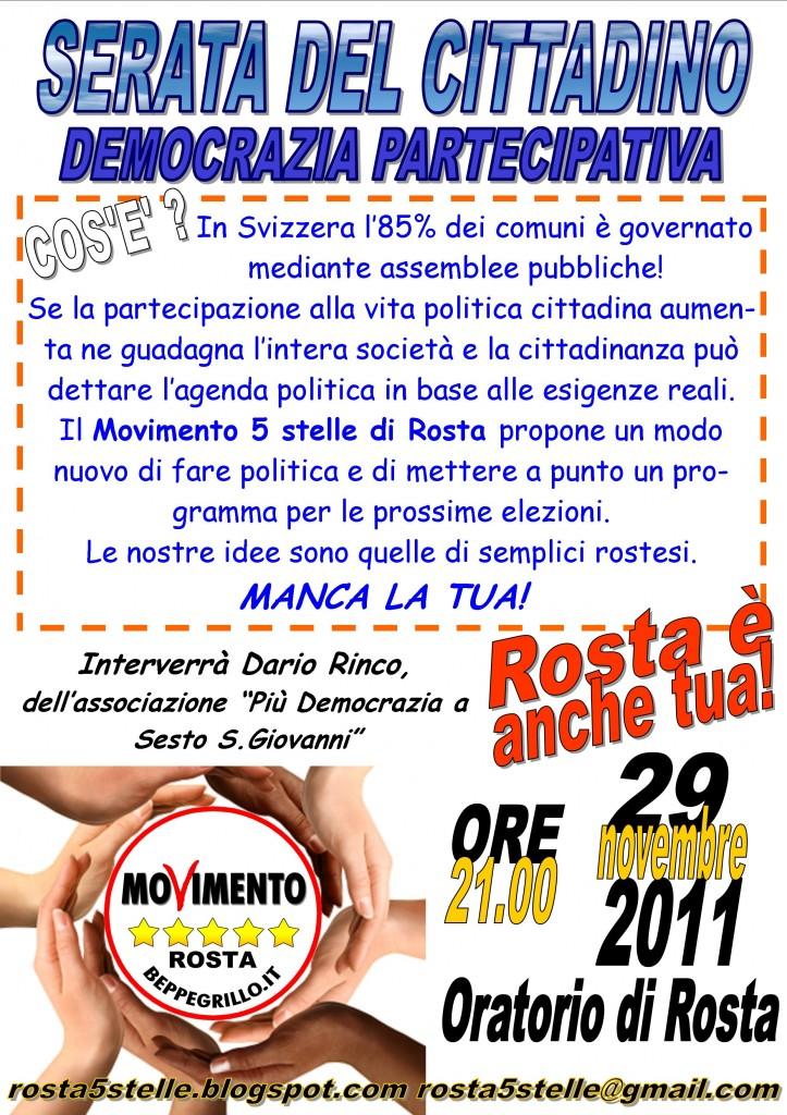 la parola ai cittadini a Rosta (TO)