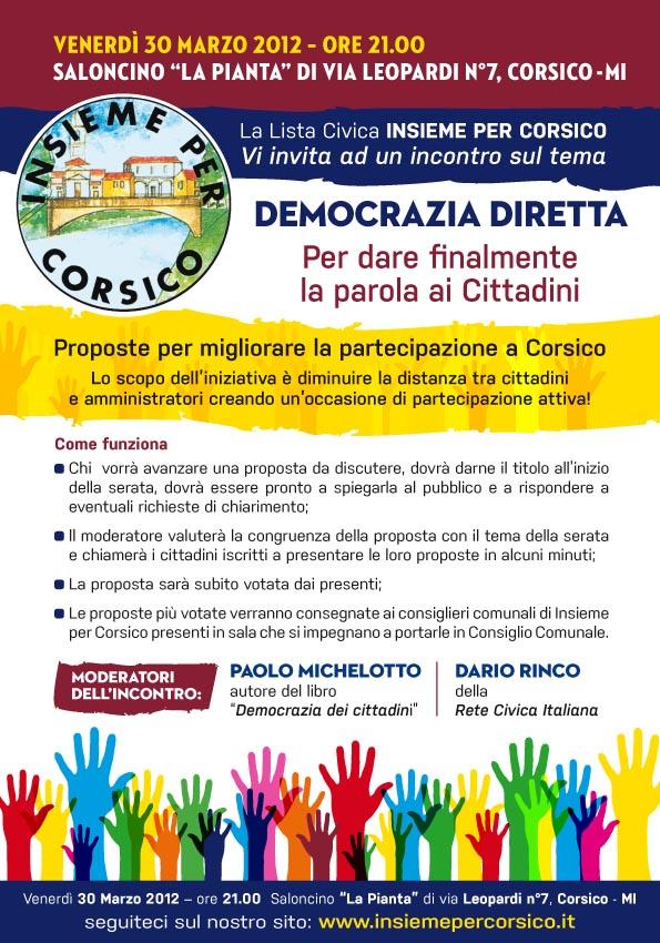 democrazia diretta corsico