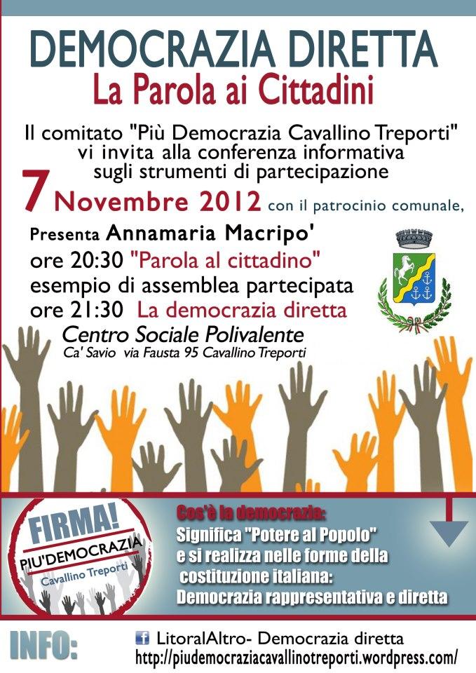 parola ai cittadini 7 novembre 2012