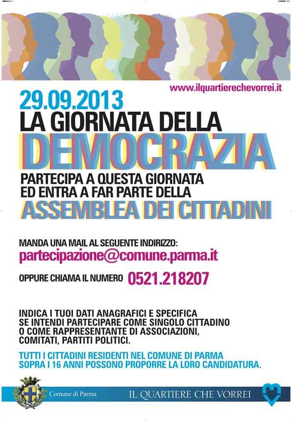 GIORNATA DEMOCRAZIA Parma 19-09-13